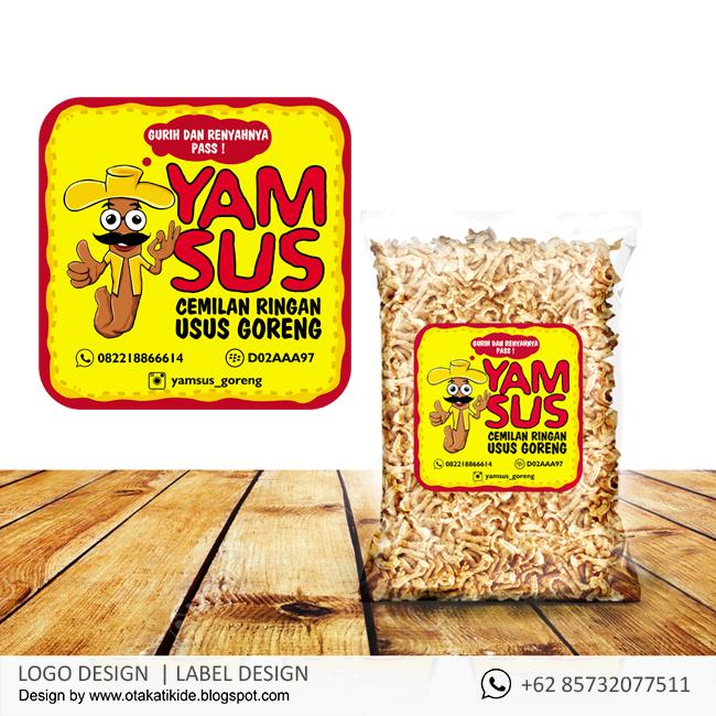 Label Camilan Yamsusjasa desain kemasan produk ukm, logo ...