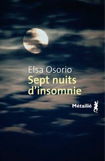 Sept nuits insomnie - Elsa Osorio