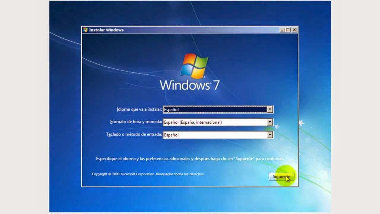 Istalacion Limpia de Windows