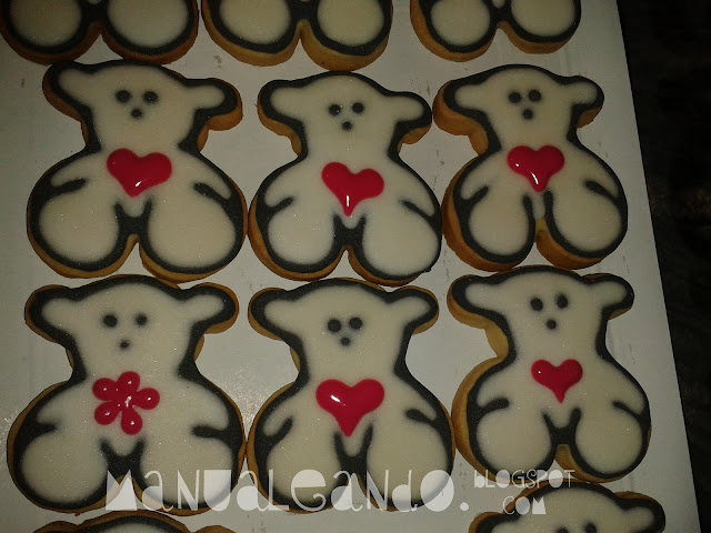 Tutorial De Galletas Decoradas Con Glasa Manualeando: Primer Tutorial: Galletas Osito Tous