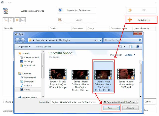 Format Factory aggiungere file da convertire