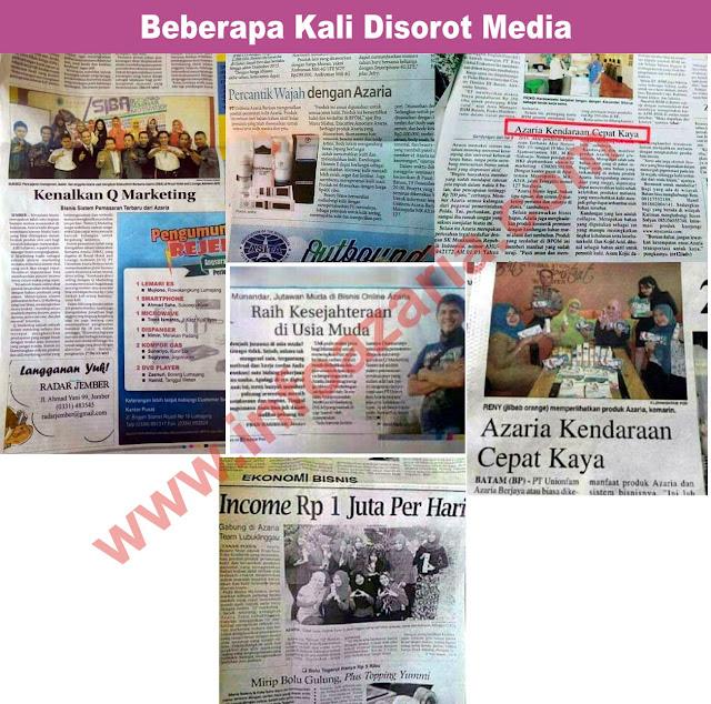 Bisnis Azari Diliput Banyak Media