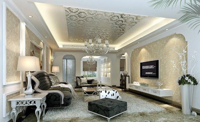 desain plafon ruang keluarga