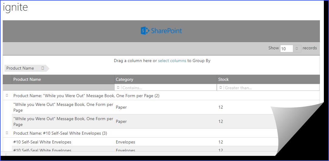SharePoint Journey: Ignite UI Data grid in SharePoint Online
