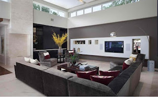Diseño de sala moderna elegante