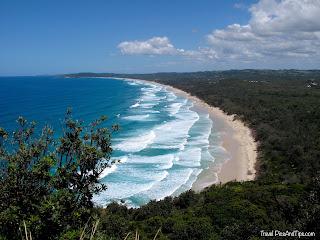 Plage de Byron Bay en Australie