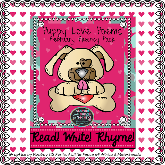 Puppies and poetry are a perfect combination for Valentine's Day! Share the love while building the reading fluency, writing, and rhyming skills of your primary grade students!