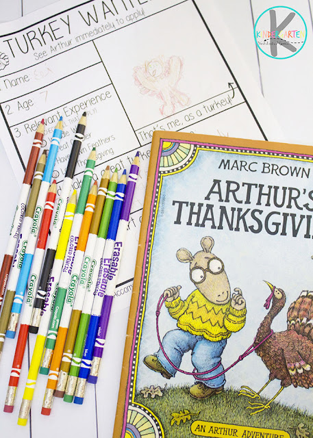 Arthur's Thanksgiving Story Time Writing Prompt