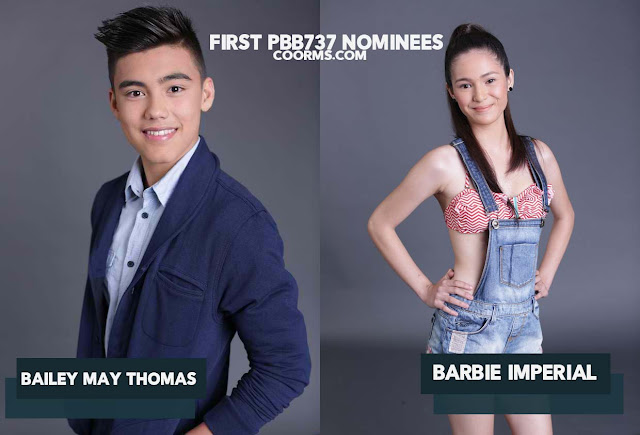 Pinoy Big Brother 737 Nominees' Bailey May Thomas and Barbie Imperial