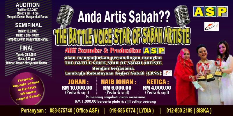 Audition Ke-2 The Battle Voice Star of Sabah Artiste