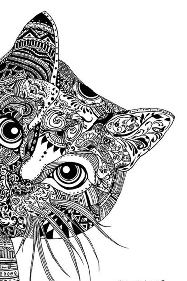 Animal zentangle coloring book