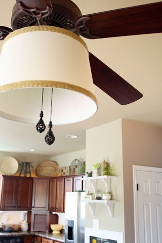 Adding a shade to ceiling fan