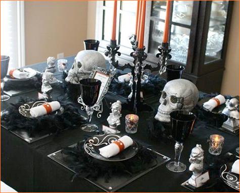 scary halloween decorating ideas interior home design. Black Bedroom Furniture Sets. Home Design Ideas