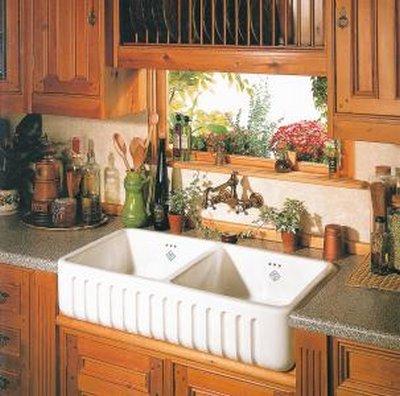 Decoraconmar a dise os de cocinas inspiraci n r stica - Fregaderos de piedra antiguos ...