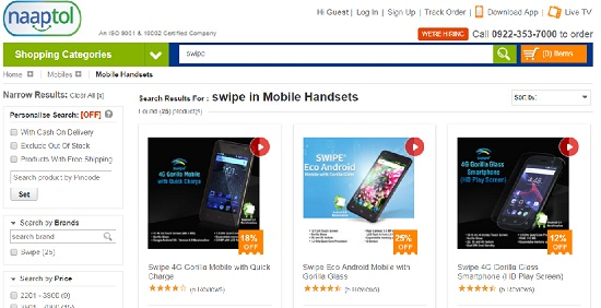 jaipur, rajasthan, naaptol, online marketing, mobile, swipe mobile, naaptol.com, online marketing company Naaptol, Complaint against Naaptol
