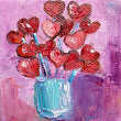 Palette Knife Painters: Little Heart Painting by Judy Mackey