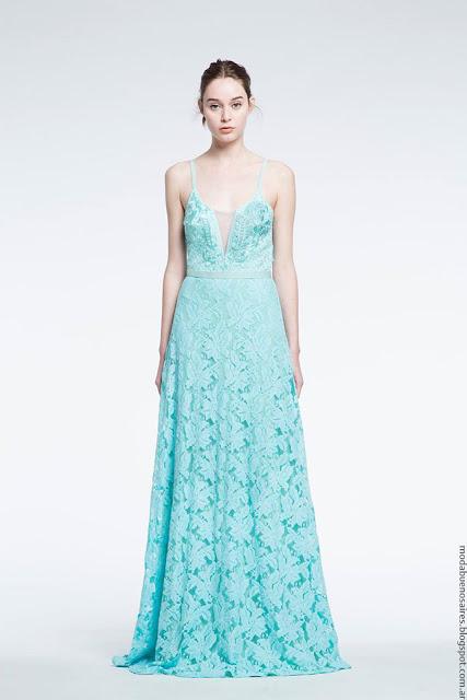 Moda verano 2017 vestidos de fiesta largos Natalia Antolin.