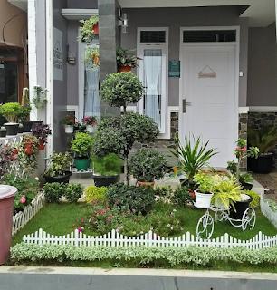 Rumah minimalis modern dengan halaman yang luas