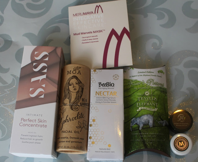 All of the products I received in the March Blogger Beauty Box