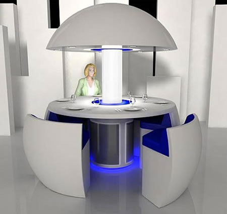 Egg Shaped Futuristic Dining Set
