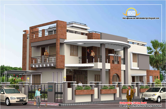 Duplex House Elevation - 392 Sq M (4217 Sq. Ft.) - February 2012