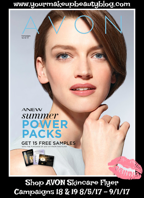 Click on your AVON eBrochure Skincare Flyer to shop the Anew Summer Power Packs