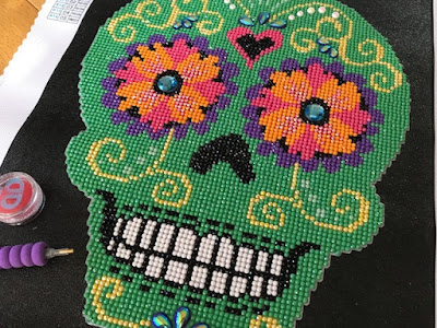 Diamond painting sugar skull for Halloween