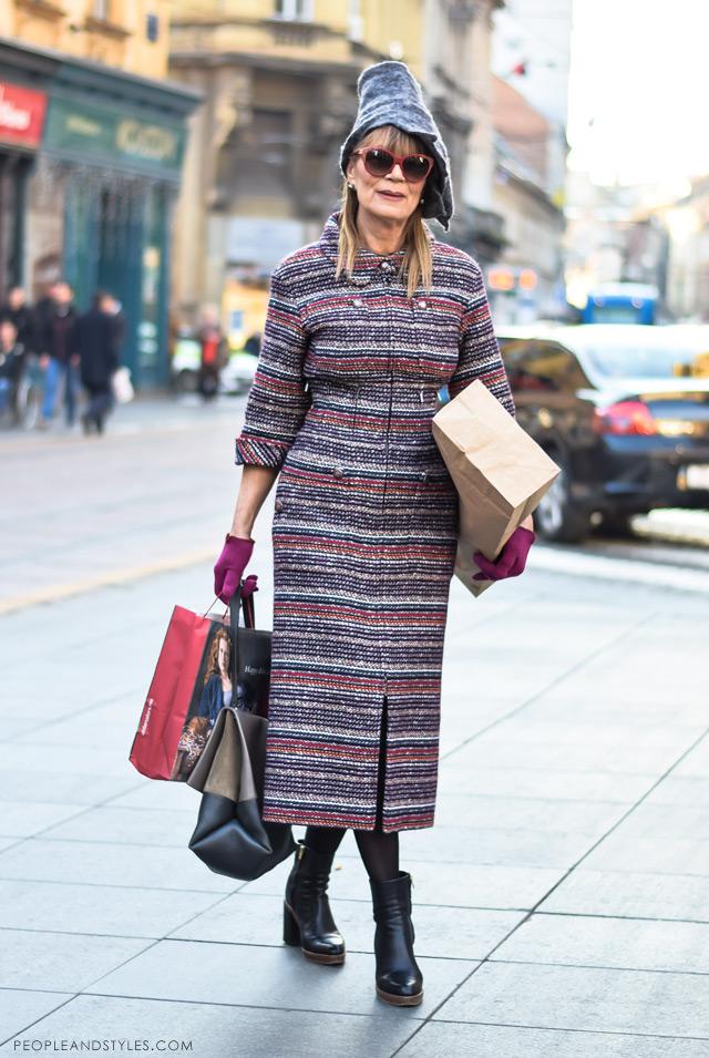 Đurđa Tedeschi ulična moda, street fashion December 2014,