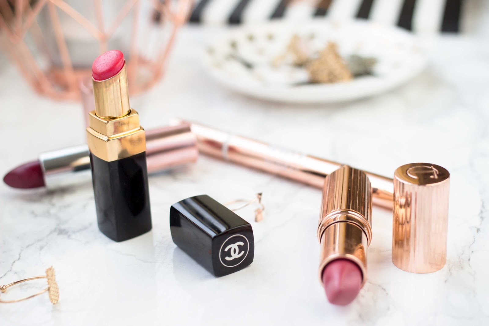 Makeup, Chanel Lipstick, Desinvolte, Charlotte Tilbury Amazing Grace, Lipstick, Beauty Bloggers, Beauty Blogs, UK Blogs, Katie Writes Blog, Katie Writes,
