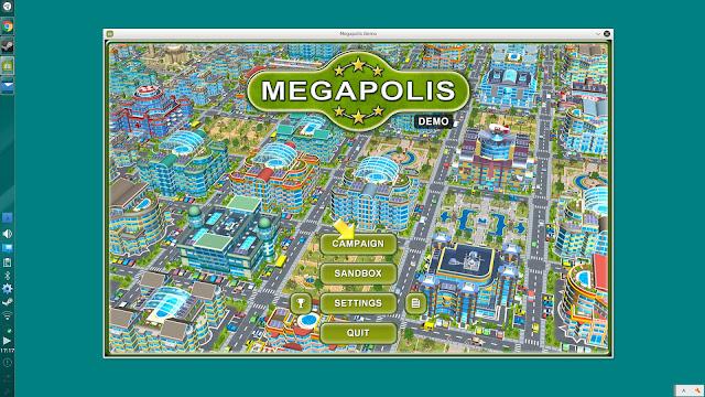 Linuxで起動しているSteamゲーム、メガロポリス(MEGAPOLIS)です。