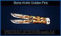 Bone Knife Golden Fire