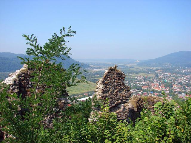 Хустский замок - вид на Хуст