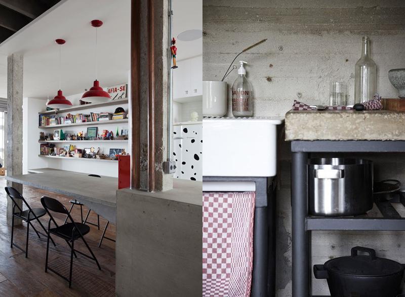 El cemento como elemento decorativo maria victrix for Cocinas de cemento