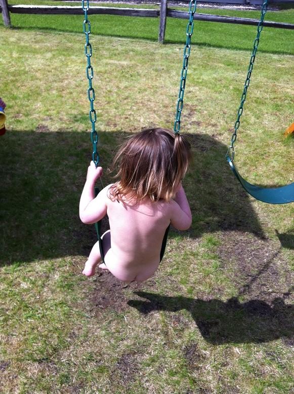 Nude Girl Bath