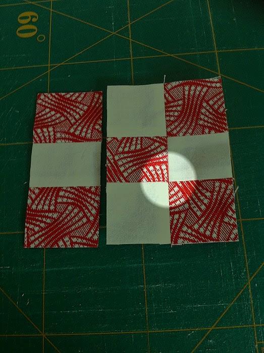 puntjes patchworkblok sluiten op elkaar aan