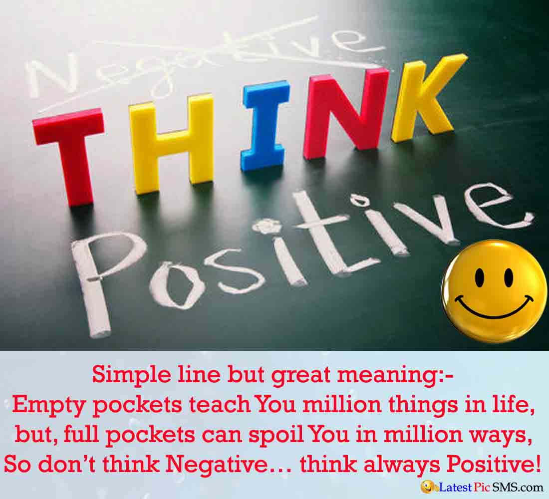 think positive Quotes - SMS of The Day in English with Pictures for Whatsapp & Facebook