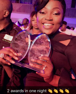funke akindele two awards