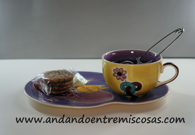 Merienda, cookies con pepitas de chocolate