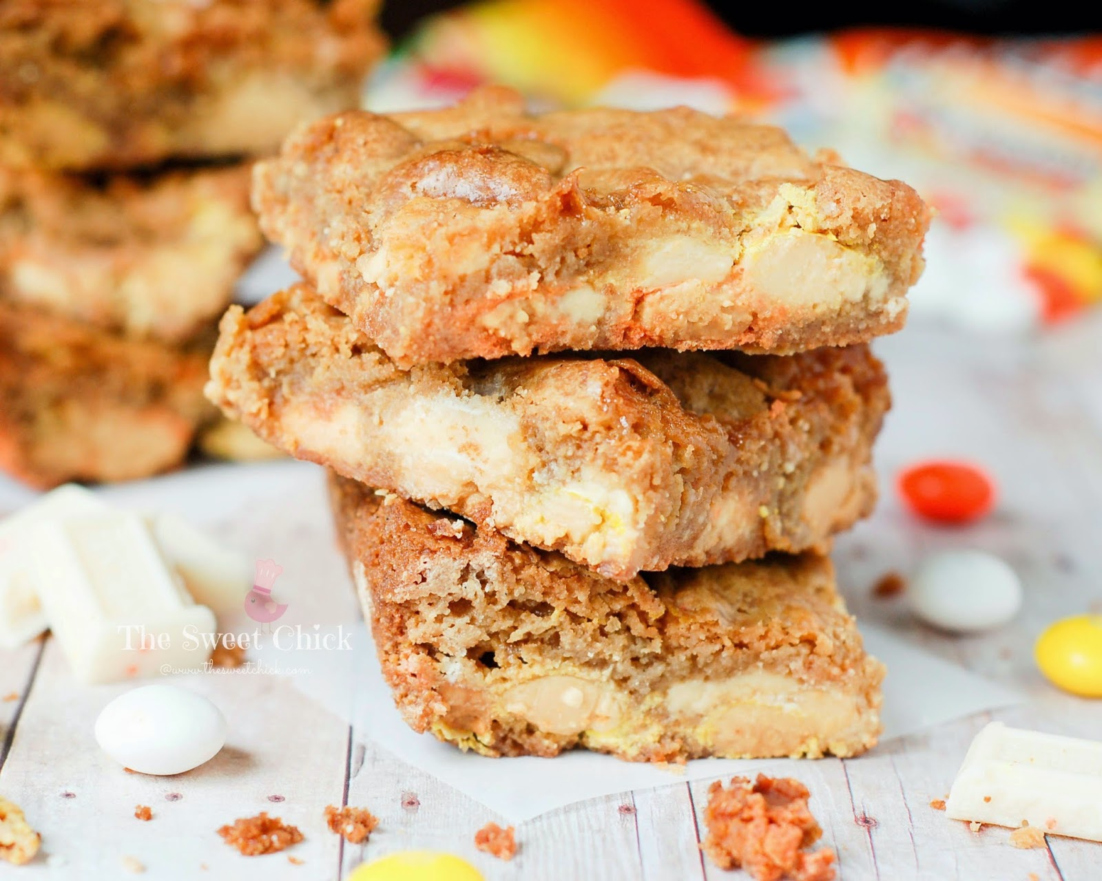Candy Corn Creme Blondie by The Sweet Chick