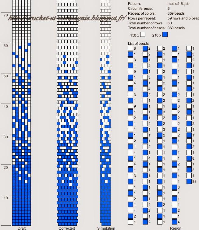 Crochet Around 6 Bead Rope Patterns Graph