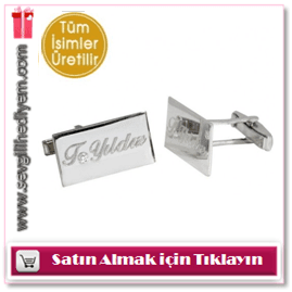 Goldstore 0.02 ct Pırlanta Gümüş Kol Düğmesi