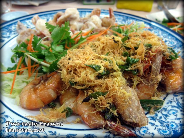 Two-taste Prawns, Buttered and Salad Mayonnaise Prawns