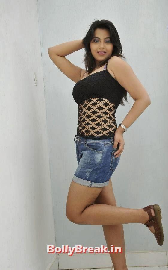 , Priyanka Tiwari Hot Pics in Shorts & Black Top