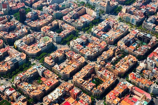 Bairro Eixample em Barcelona