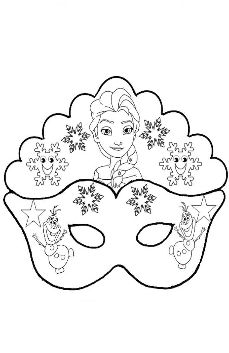 La maestra linda maschera frozen da colorare for Frozen da colorare e stampare
