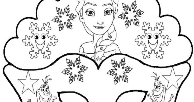Guida Rispettoso Muscolare Mascherine Da Colorare Elsa Senso Minimizzare Intimo