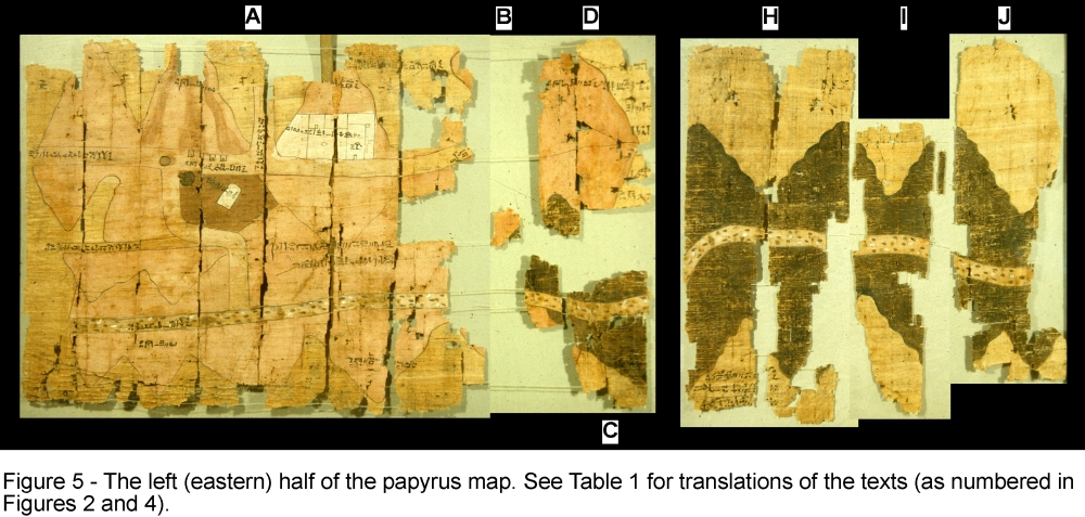 History of geology a 3000 year old geological map reconstructed map of the turin papyrus image source pinkish red gold bearing rocks dark green rocks for construction gumiabroncs Gallery