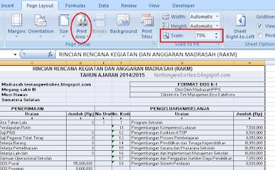 Cara Print File Exce
