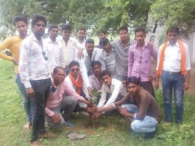 खोड़ मंडल में युवा मोर्चा कार्यकर्ता गांव-गांव जाकर लगा रहे पौधे