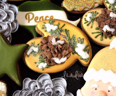How to make a decorated pine cone sugar cookie -- tutorial